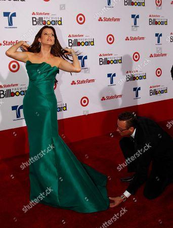 Martiza Rodriguez Telemundo presenter Maritza Rodriguez walks the red carpet at the Latin Billboard Awards in Coral Gables, Fla