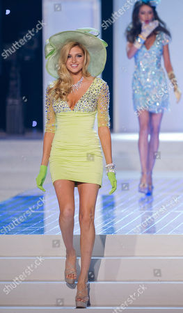 Natalie Pack Miss California Natalie Pack walks the runway during the opening number fashion show during the 2012 Miss USA pageant, in Las Vegas