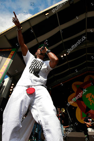 Mystikal Mystikal performs at the New Orleans Jazz and Heritage Festival in New Orleans