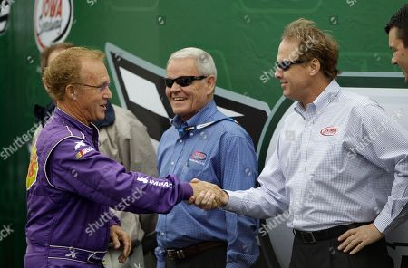 Morgan Shepherd, Rusty Wallace Morgan Shepherd, left, greets Rusty Wallace before the NASCAR Nationwide Series' Pioneer Hi-Bred 250 auto race, at Iowa Speedway in Newton, Iowa