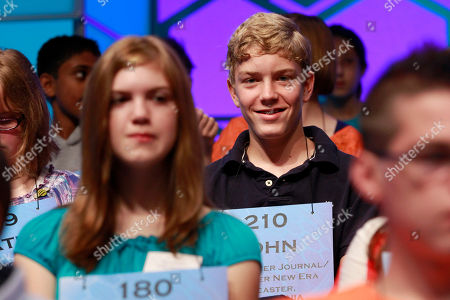 John Fulton John Fulton, 13, of Lancaster, Penn., waits in his seat to compete in the National Spelling Bee in Oxon Hill, Md., on
