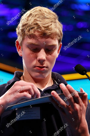 John Fulton John Fulton, 13, of Lancaster, Penn., spells out his word with his hand during the National Spelling Bee in Oxon Hill, Md., on