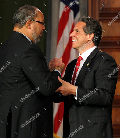 Andrew Cuomo, Richard Parsons New York Gov. Andrew Cuomo, right, shakes hands with Richard Parsons, chairman of the New NY Education Reform Commission after a meeting in the Red Room at the Capitol in Albany, N.Y., on