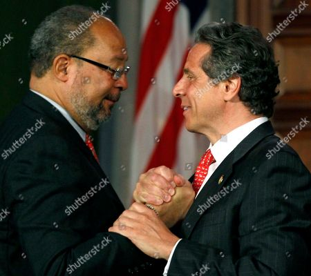 Andrew Cuomo, Richard Parsons New York Gov. Andrew Cuomo, right, shakes hands with Richard Parsons, chairman of the New NY Education Reform Commission, after a meeting in the Red Room at the Capitol in Albany, N.Y., on