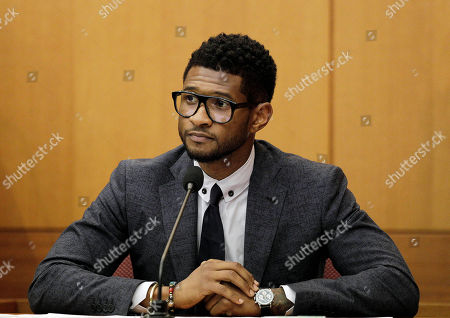 Usher Raymond Hip-hop artist Usher Raymond takes the witness stand in court in a legal battle with his ex-wife in a custody fight involving their two sons, in Atlanta. Fulton County Court Clerk's office spokeswoman Cherrise Boone says a judge ruled that the 33-year-old singer will have primary physical custody of Usher Raymond V and Naviyd Ely Raymond
