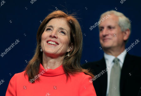Caroline Kennedy, Ed Schlossberg Caroline Kennedy smiles as her husband, Ed Schlossberg, sits at right during the presentation of the 2012 John F. Kennedy Profile in Courage Awards at the JFK Library in Boston