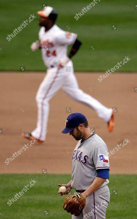 Editorial photo of Rangers Orioles Baseball, Baltimore, USA