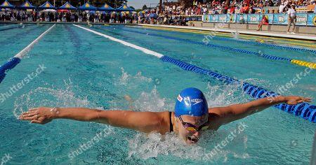 Ellen Gandy Ellen Gandy, of Great Britain, competes in the 200-meter butterfly during the Santa Clara International Grand Prix, in Santa Clara, Calif