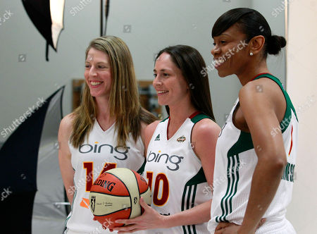 Sue Bird, Katie Smith, Tina Thompson Seattle Storm's Katie Smith, left, Sue Bird, and Tina Thompson are photographed during a media day for the basketball team, in Seattle. The Storm opens their season Friday, May 18, against the Los Angeles Sparks