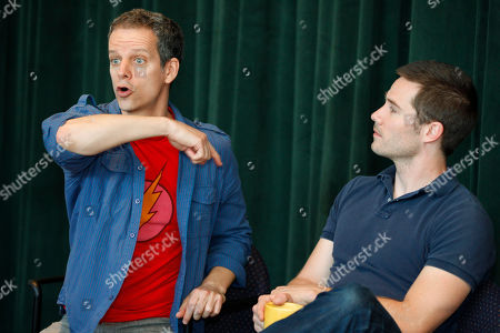 """Patrick Breen, Luke MacFarlane Actors Patrick Breen, left, who plays Ned, and Luke MacFarlane, from the tv show """"Brothers & Sisters,"""" who plays Ned's partner, Felix, are interviewed at Arena Stage in Washington, on . The actor's are featured in Larry Kramer's historic play, """"The Normal Heart,"""" which won the Tony Award in 2011 for best play revival, at Arena Stage"""