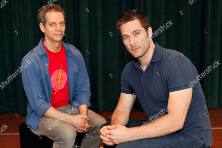"""Patrick Breen, Luke MacFarlane Actors Patrick Breen, left, who plays Ned, and Luke MacFarlane, from the tv show """"Brothers & Sisters,"""" who plays Ned's partner, Felix, pose for a photograph at Arena Stage in Washington, on . The actor's are featured in Larry Kramer's historic play, """"The Normal Heart,"""" which won the Tony Award in 2011 for best play revival, at Arena Stage"""