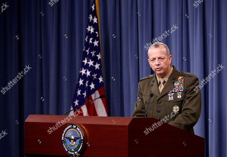 John R. Allen Marine Gen. John R. Allen, commander of the International Security Assistance Force, speaks during a news conference at the Pentagon
