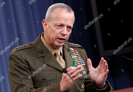 John R. Allen Marine Gen. John R. Allen, commander of the International Security Assistance Force gestures during a news conference at the Pentagon