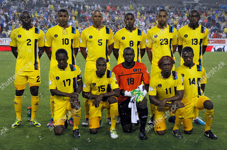 Antigua and Barbuda The Antigua and Barbuda soccer team, standing from left, Marvin McCoy (2), Keiran Murtagh (10), Marc Joseph (5), Mikele Leigertwood (8), Dexter Blackstock (23), and Tamorley Thomas (13), kneeling from left, George Dublin (17), Lawson Robinson (15), Molvin James (18), Quinton Griffith (11) and Randolph Burton during a FIFA World Cup qualifying soccer match against United States, in Tampa, Fla