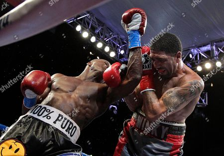 Stock Image of Winky Wright, Peter Quillin Winky Wright, right, dodges a punch from Peter Quillin in the 10th round of a middleweight boxing match in Carson, Calif., . Quillin won by unanimous decision in the 10-round bout