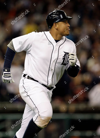 Miguel Cabrera Detroit Tigers' Miguel Cabrera watches his solo home run off New York Yankees relief pitcher Cory Wade in the eighth inning of a baseball game in Detroit