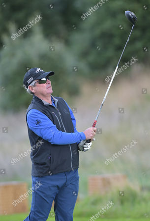 Allan Lamb, former international cricketer playing on Pro-Am day of The British Masters Golf at The Grove, Hertfordshire, on Wednesday 12th October 2016.