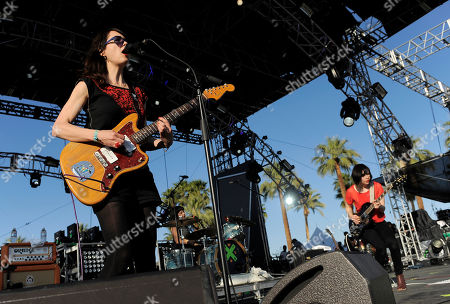Mary Timony, Carrie Brownstein Mary Timony, left, and Carrie Brownstein, right, of Wild Flag perform during the first weekend of the 2012 Coachella Valley Music and Arts Festival, in Indio, Calif