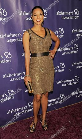 "Eva La Rue Actress Eva La Rue poses at the 20th anniversary of the Alzheimer's Association ""A Night at Sardi's,"", in Beverly Hills, Calif. The annual celebrity musical revue and awards dinner benefits the Alzheimer's Association"