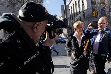 All Bout, Viktor Bout Alla Bout, center is surrounded buy reporters as she arrives at Federal court in Manhattan for the sentencing hearing of her husband Viktor Bout, in New York. Viktor Bout, 45, faces a mandatory minimum of 25 years in prison and possibly life during sentencing for his conviction on terrorism charges