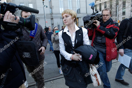 Stock Picture of Alla Bout Alla Bout is surrounded by reporters outside Federal court in Manhattan after the sentencing hearing of her husband Viktor Bout, in New York. Viktor Bout, dubbed the Merchant of Death was sentenced Thursday to 25 years in prison, far short of the life term prosecutors sought for his conviction on terrorism charges that grew from a U.S. sting operation