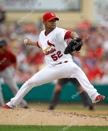 Eduardo Sanchez St. Louis Cardinals relief pitcher Eduardo Sanchez throws against the Houston Astros during a spring training baseball game in Jupiter, Fla