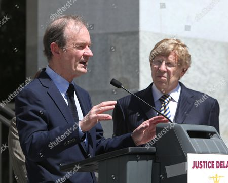 David Boies, Theodore Olson Attorney David Boies left, accompanied by attorney Theodore Olson, discusses the effects of budget cuts to the state court system during a news conference at the Capitol in Sacramento, Calif., . Boies, along with Olson are co-chairing an American Bar Association task force looking into the effect of court cutbacks nationwide, warned that state budget cuts to the court system is making justice inaccessible for average people
