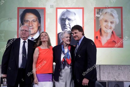 Tony La Russa, Angela Lansbury, Richard Meier, Meredith Vieira 2012 Ellis Island Family Heritage Awards honorees, architect Richard Meier,left, baseball player and manager Tony La Russa, right, and actress Angela Lansbury, second right, stand for a photograph on Ellis Island, with televison personality Meredith Vieira, second left, after they were honored, for contributions they have made to a nation of immigrants