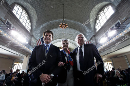 Tony La Russa, Angela Lansbury, Richard Meier Former baseball manager and player Tony La Russa, left, actress Angela Lansbury and architect Richard Meier, right, stand together in the Great Hall after they were honored for contributions they have made to a nation of immigrants at the Ellis Island Family Heritage Awards on Ellis Island on . The Statue of Liberty-Ellis Island Foundation's database of ship's passenger records documents the arrival of more than 17 million immigrants, travelers and crew members who came through Ellis Island and the Port of New York between 1892-1942