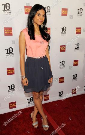 Melanie Kannokada Actress Melanie Kannokada poses at the opening night of the 10th Annual Indian Film Festival of Los Angeles