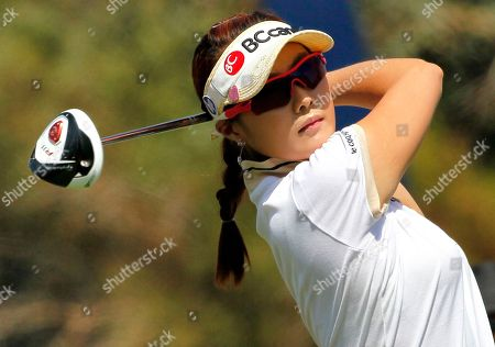 Ha-Neul Kim Ha-Neul Kim, of South Korea, hits from the second tee during the third round of the Kraft Nabisco Championship golf tournament, in Rancho Mirage, Calif