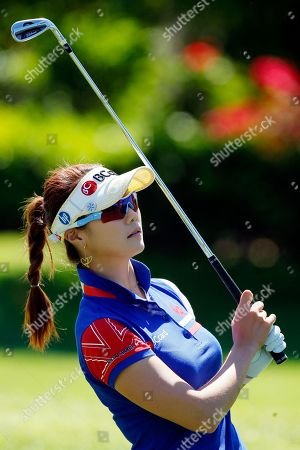 Ha-Neul Kim Ha-Neul Kim, of South Korea, follows her shot out of the first fairway during the final round of the Kraft Nabisco Championship golf tournament, in Rancho Mirage, Calif