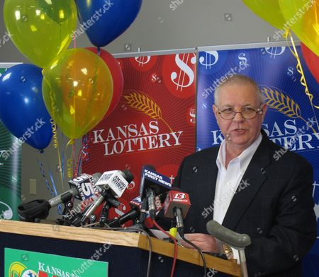 Dennis Wilson, executive director of the Kansas Lottery, announces that a resident of the state has claimed a share of a $656 million Mega Millions jackpot but wishes to remain anonymous, during a news conference, at the lottery's headquarters in Topeka, Kan. State law allows a lottery jackpot winner to keep his or her identity from being revealed publicly
