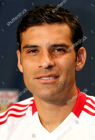 Rafa Marquez Showing New York Red Bulls MLS soccer player Rafa Marquez posed during the team's media day in Harrison, N.J. The Red Bulls have released Marquez. The team made the announcement, calling it a mutual agreement with Marquez, who was captain of the Mexico national team at the 2010 World Cup