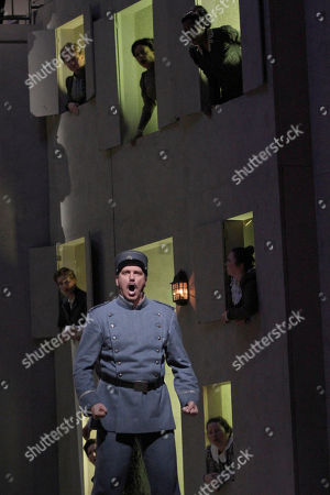 """Paulo Szot Paulo Szot performs as Lescaut during the final dress rehearsal of Jules Massenet's """"Manon,"""" at the Metropolitan Opera in New York"""