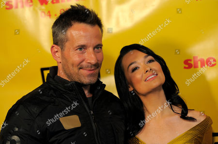 "Johnny Messner, Kristen Ruhlin Johnny Messner, left, and Kristen Ruhlin, cast members in ""She Wants Me,"" pose together at the premiere of the film in Beverly Hills, Calif"