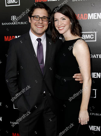 "Stock Picture of Rich Sommer, Virginia Sommer Cast member Rich Sommer, left, and his wife, Virginia, arrive at the premiere ""Mad Men"" in Los Angeles, . ""Mad Men"" season five premieres on AMC Sunday, March 25"