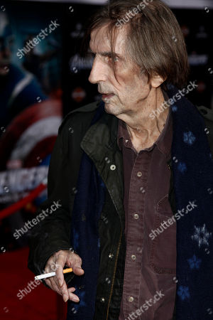 """Harry Dean Stanton Arrives at the premiere of """"The Avengers"""" in Los Angeles, . """"The Avengers"""" will be released in theaters May 4, 2012"""
