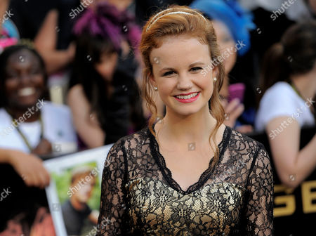 """Mackenzie Lintz Mackenzie Lintz arrives at the world premiere of """"The Hunger Games"""" on in Los Angeles"""