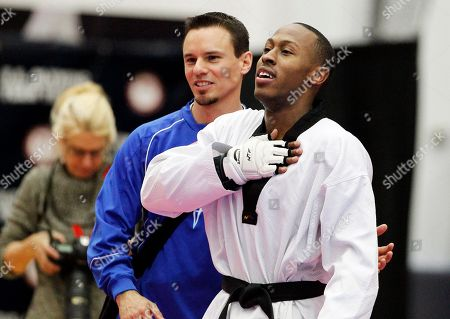 Terrence Jennings Terrence Jennings, of Alexandra, Va., reacts after defeating Mark Lopez, of Sugar Land, Texas, in their men's 68-kilogram division Olympic Team Trials taekwondo match at the U.S. Olympic Training Center in Colorado Springs, Colo., on