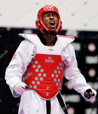 Terrence Jennings Terrence Jennings, of Alexandra, Va., reacts after defeating Mark Lopez, of Sugar Land, Texas, during their men's 68-kilogram division Olympic team trials taekwondo match, at the U.S. Olympic Training Center in Colorado Springs, Colo