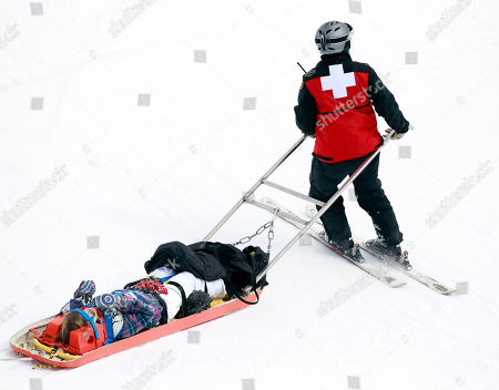 Hannah Teter Hannah Teter is taken from the course after a crash in the women's halfpipe finals at the U.S. Open Snowboarding Championships in Stratton, Vt., on