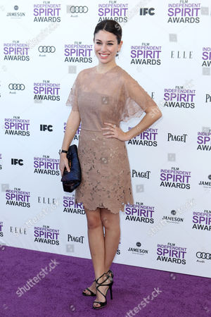 Bianca Suarez Actress Bianca Suarez arrives at the Independent Spirit Awards, in Santa Monica, Calif