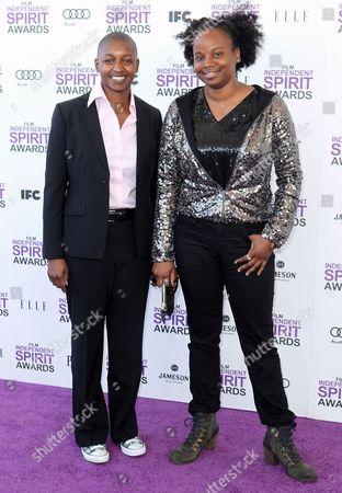 Nekisa Cooper Nekisa Cooper, left, and Dee Rees arrive at the Independent Spirit Awards, in Santa Monica, Calif