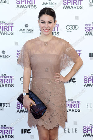 Stock Image of Bianca Suarez Actress Bianca Suarez arrives at the Independent Spirit Awards, in Santa Monica, Calif