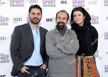Peyman Moadi, Asghar Farhadi, and Leila Hatami Peyman Moadi, Asghar Farhadi, and Leila Hatami arrive at the Independent Spirit Awards, in Santa Monica, Calif