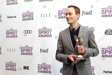 Stock Picture of Will Reiser Will Reiser poses with the best first screenplay award for 50/50 at the Independent Spirit Awards, in Santa Monica, Calif