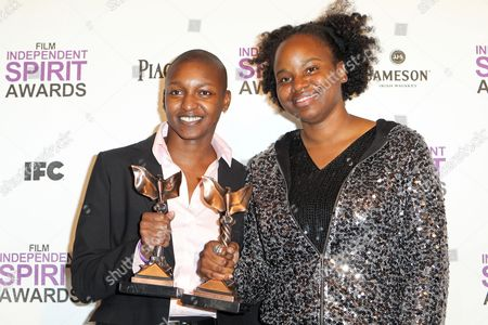 Nekisa Cooper, Dee Rees Filmmakers Nekisa Cooper (L) and Dee Rees pose with the John Cassavetes Award for 'Pariah' in the press room at the Independent Spirit Awards, in Santa Monica, Calif
