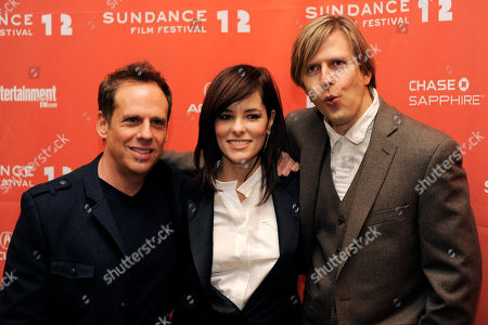 """Josh Pais, Parker Posey, Jayce Bartok Josh Pais, left, Parker Posey, center, and Jayce Bartok, cast members in """"Price Check,"""" pose together at the premiere of the film at the 2012 Sundance Film Festival in Park City, Utah"""