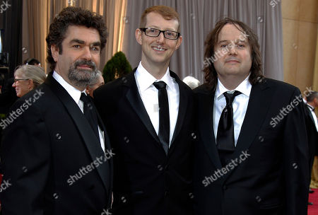 Stock Picture of Joe Berlinger, Jason Baldwin, Bruce Sinofsky Joe Berlinger, left, Jason Baldwin, center, and Bruce Sinofsky arrive before the 84th Academy Awards, in the Hollywood section of Los Angeles